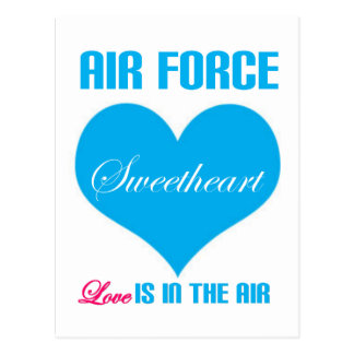 Air Force Sweetheart Love Is In The Air Postcard