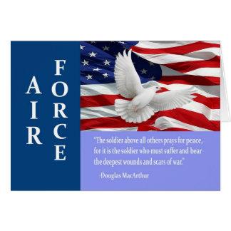 Air Force Thank You Mac Arthur Quote Card