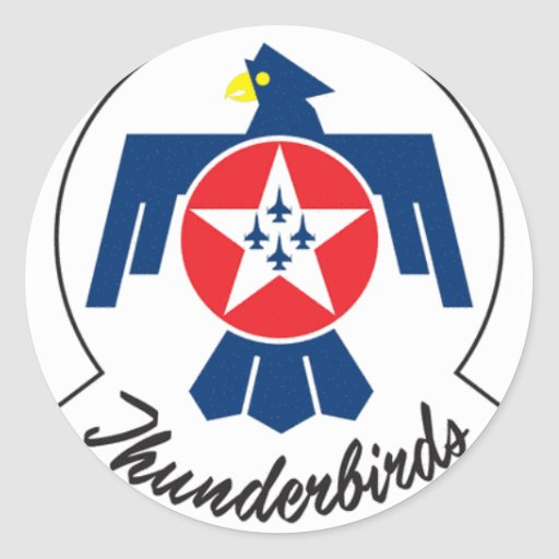 Air Force Thunder Classic Round Sticker