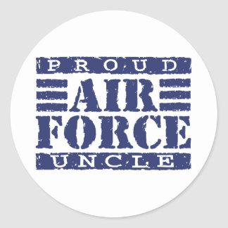 Air Force Uncle Classic Round Sticker