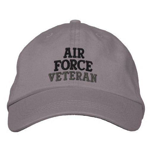 Air Force Veteran Embroidered Baseball Caps