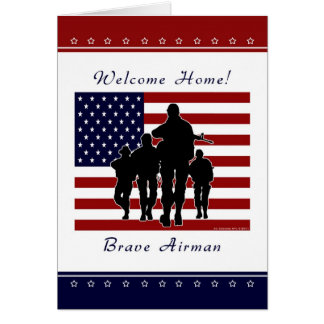 Air Force - Welcome Home Airman Greeting Card
