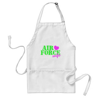 Air Force Wife Lime Green Adult Apron