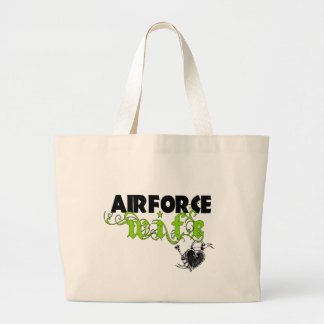 Air Force Wife Locket Large Tote Bag