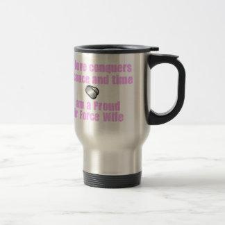 Air Force Wife Love Conquers Travel Mug