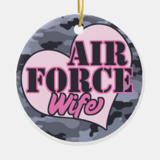 air force wife.png ceramic ornament