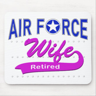 Air Force Wife Retired Mouse Pad