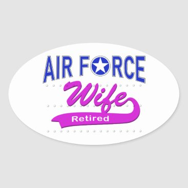 Air Force Wife Retired Oval Sticker