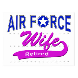 Air Force Wife Retired Postcard