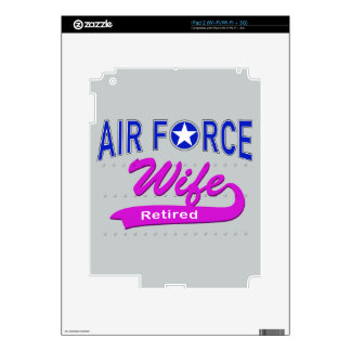 Air Force Wife Retired iPad 2 Decals