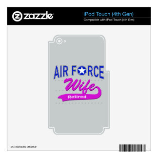 Air Force Wife Retired Skins For iPod Touch 4G