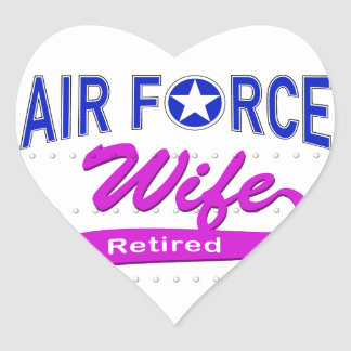 Air Force Wife Retired Sticker