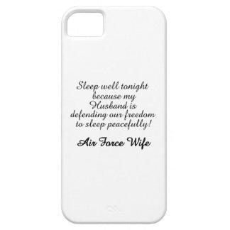 Air Force Wife Sleep Well iPhone SE/5/5s Case