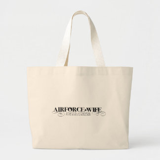 Air Force Wife - We Fight Together Large Tote Bag