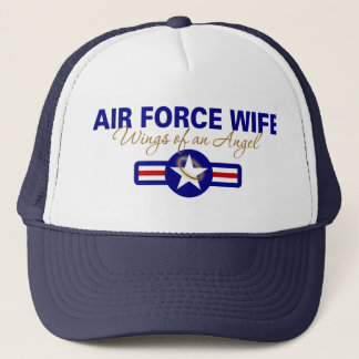Air Force Wife, Wings of an Angel Trucker Hat