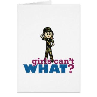Air Force Woman Card