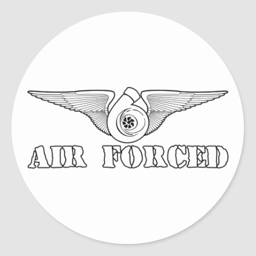 Air Forced Classic Round Sticker