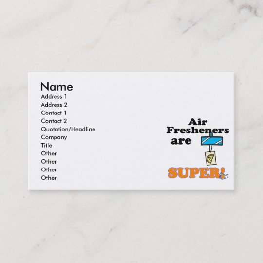 Air fresheners are super business card zazzle air fresheners are super business card colourmoves