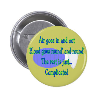 Air Goes and Out...The Rest is Complicated Pinback Button