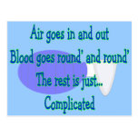 Air Goes and Out...The Rest is Complicated Postcard