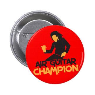 Air Guitar Champion design Pins