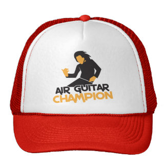 Air Guitar Champion design Trucker Hat