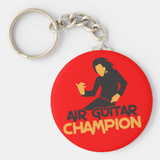 Air Guitar Champion design Keychain