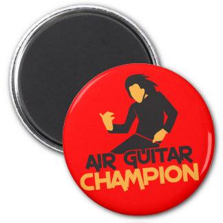 Air Guitar Champion design Fridge Magnets
