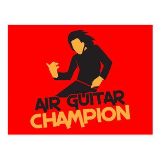 Air Guitar Champion design Postcard