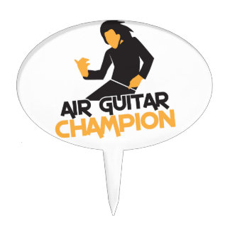Air guitar Champion NP Cake Toppers