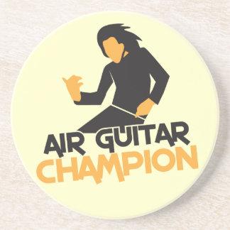 Air guitar Champion NP Beverage Coaster