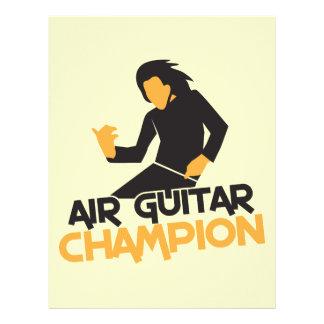 AIR GUITAR CHAMPION NP LETTERHEAD DESIGN