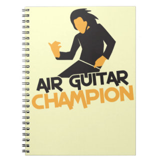 AIR GUITAR CHAMPION NP SPIRAL NOTE BOOK
