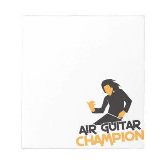 Air guitar Champion NP Memo Note Pads