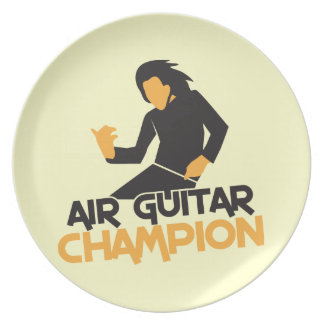 AIR GUITAR CHAMPION NP PARTY PLATE