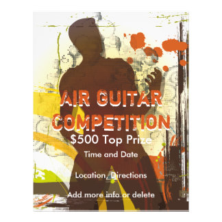 Air Guitar Competition Music Flyer