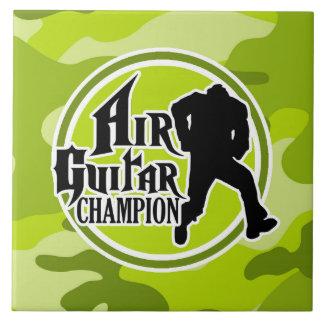 Air Guitar divertido; camo verde claro, camuflaje Azulejos