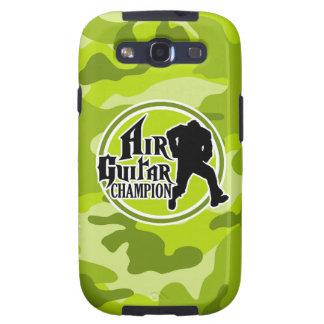 Air Guitar divertido; camo verde claro, camuflaje Galaxy S3 Coberturas