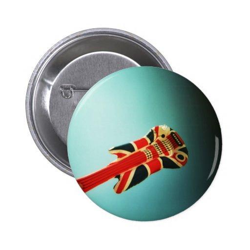 air guitar: Holga badge Pinback Button