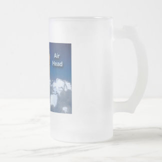 Air Head: Hot Air Balloon Frosted Glass Beer Mug