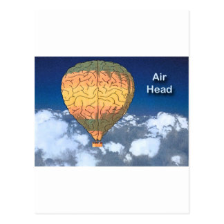 Air Head: Hot Air Balloon Postcard