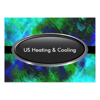 Air Heating And Cooling Large Business Card
