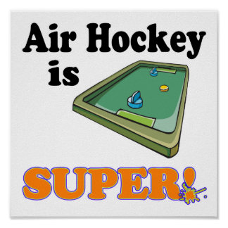 air hockey is super poster