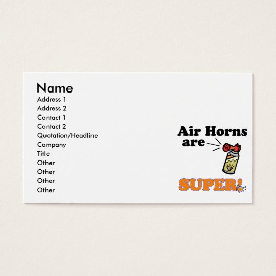 air horns are super business card