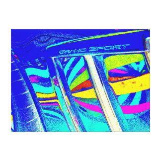 Air intakes on a Corvette Grand Sport Canvas Print