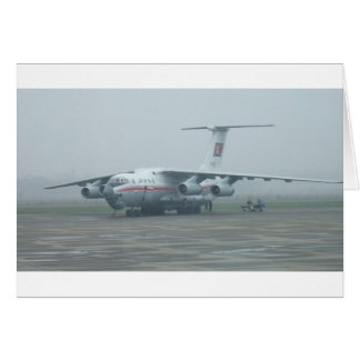 Air Koryo at Pyongyang air gate DPRK Il-76 TD Card