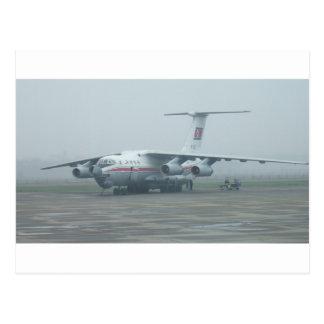 Air Koryo at Pyongyang air gate DPRK Il-76 TD Postcard