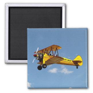 Air Mail Biplane Magnet