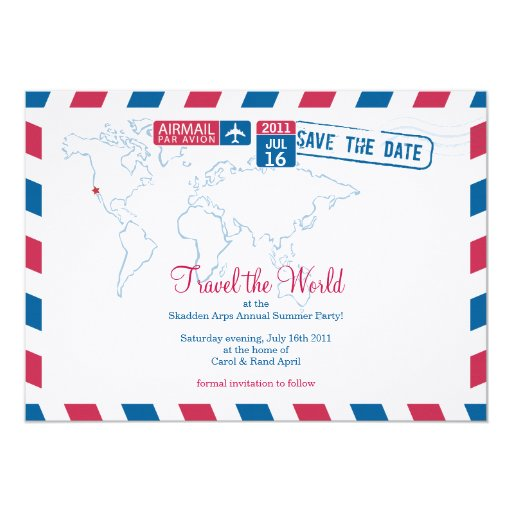 "Air Mail Corporate Part 5"" X 7"" Invitation Card"