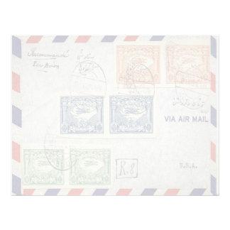 Air Mail Envelope Letterhead